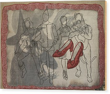 Red Shoes Wood Print by Diane  DiMaria