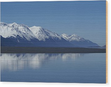 Reflection Mountains Wood Print by Robert Reasner
