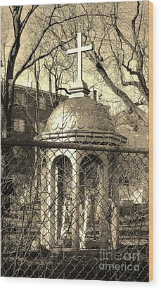 Religion Wood Print by Reb Frost