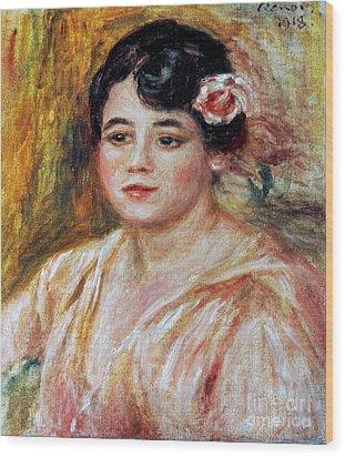 Renoir: Adele Besson, 1918 Wood Print by Granger