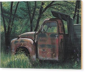 Retired Wood Print by John Clum