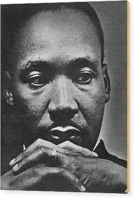Rev. Martin Luther King Jr. 1929-1968 Wood Print by Everett