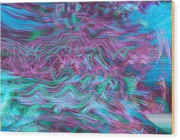 Rhythmic Waves Wood Print by Linda Sannuti