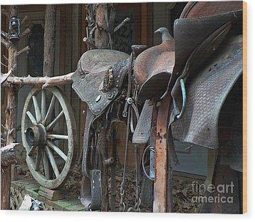 Ride The Rail Wood Print by Joy Tudor