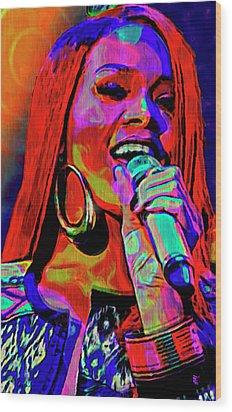 Rihanna  Wood Print by  Fli Art