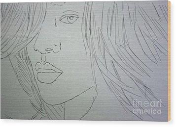 Rihanna Wood Print by Kristen Diefenbach
