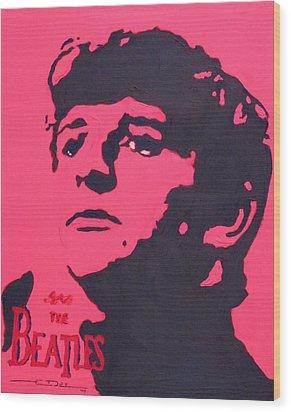 Ringo Wood Print by Eric Dee