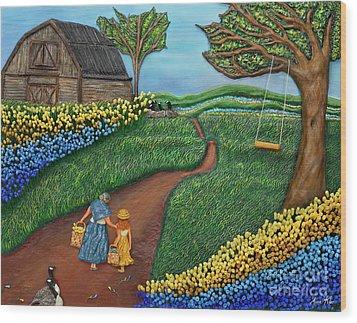 Road To Maple Wood Print by Anne Klar