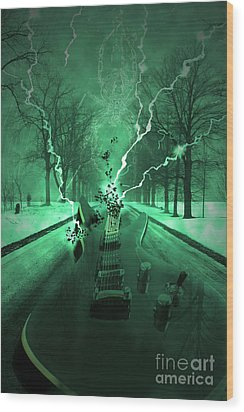 Road Trip Effects  Wood Print by Cathy  Beharriell