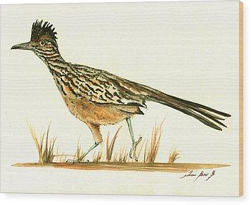 Roadrunner Bird Wood Print by Juan Bosco