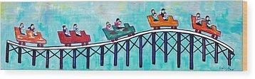 Roller Fun Wood Print by Patricia Arroyo