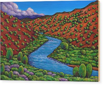 Rolling Rio Grande Wood Print by Johnathan Harris
