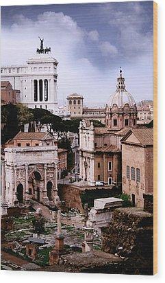 Roman Forum Wood Print by Warren Home Decor