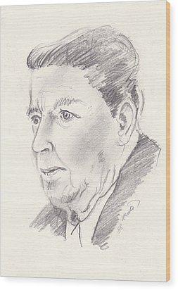 Ronald Reagan Wood Print by John Keaton