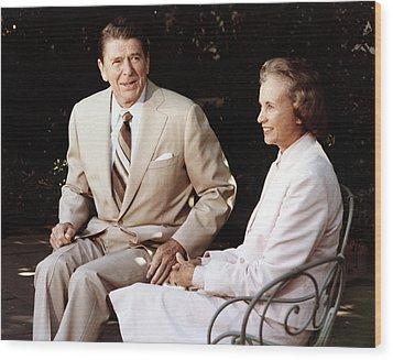 Ronald Reagan. President Reagan Wood Print by Everett