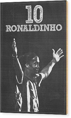 Ronaldinho Wood Print by Semih Yurdabak