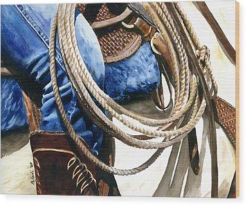 Rope Wood Print by Nadi Spencer