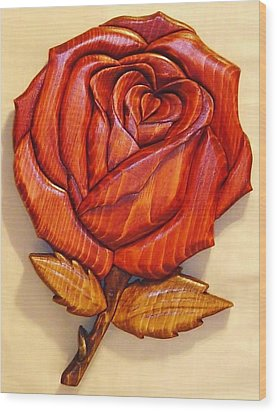 Rose Wood Print by Russell Ellingsworth