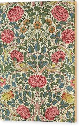 Rose Wood Print by William Morris