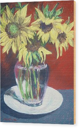 Rosemarys Gift Wood Print by Dolores Holt
