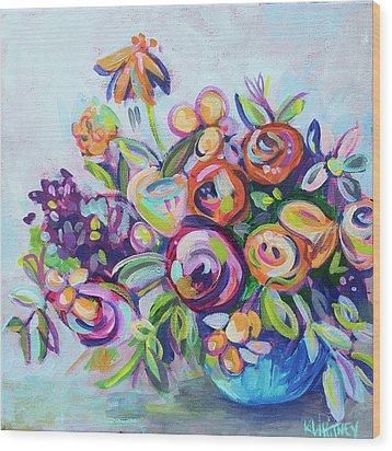 Roses And Kumquats Wood Print by Kristin Whitney
