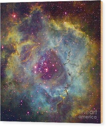 Rosette Nebula Ngc 2244 In Monoceros Wood Print by Filipe Alves