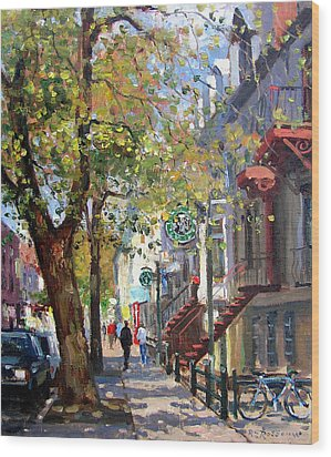 Rue St Denis Montreal Wood Print by Roelof Rossouw