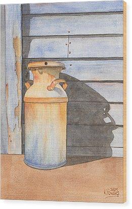 Rusty Milk Wood Print by Ken Powers