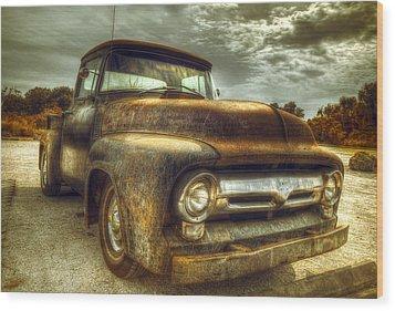 Rusty Truck Wood Print by Mal Bray