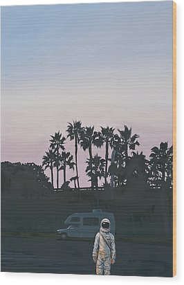 Rv Dusk Wood Print by Scott Listfield