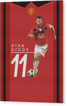 Ryan Giggs Wood Print by Semih Yurdabak