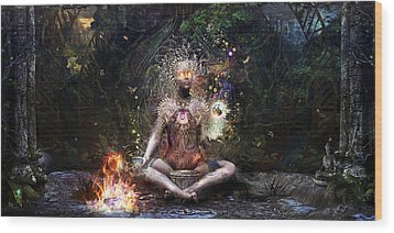 Sacrament For The Sacred Dreamers Wood Print by Cameron Gray