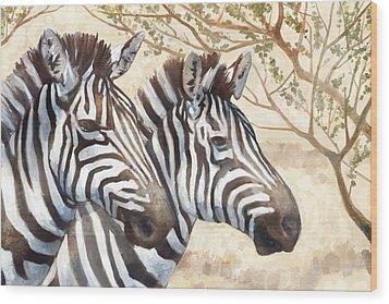 Safari Sunrise Wood Print by Mauro DeVereaux