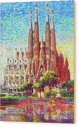 Sagrada Familia Wood Print by Jane Small
