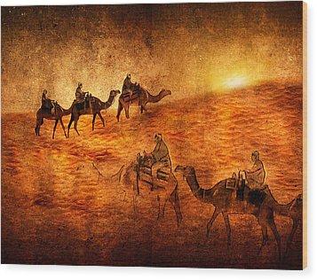 Sahara Wood Print by Svetlana Sewell