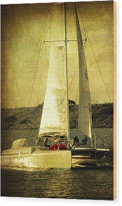 Sailing Away Wood Print by Susanne Van Hulst