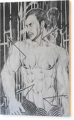 Saint Sebastian  2 Wood Print by Carmine Santaniello