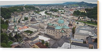 Salzburg Panoramic Wood Print by Adam Romanowicz