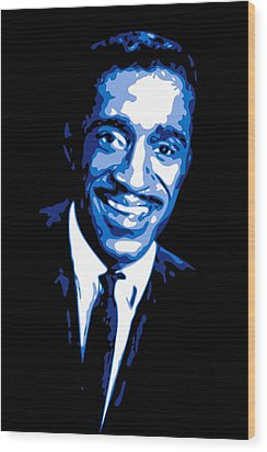 Sammy Davis Wood Print by DB Artist