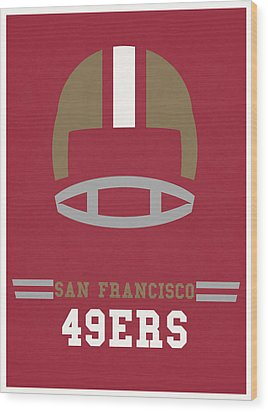 San Francisco 49ers Vintage Art Wood Print by Joe Hamilton
