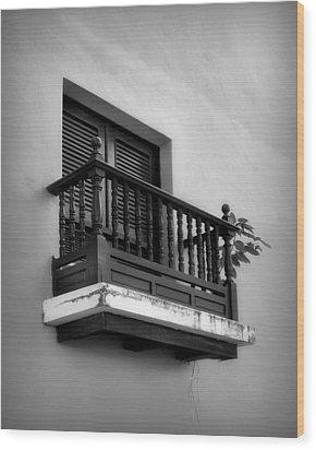 San Juan Window 2 Wood Print by Perry Webster
