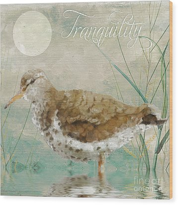 Sandpiper II Wood Print by Mindy Sommers