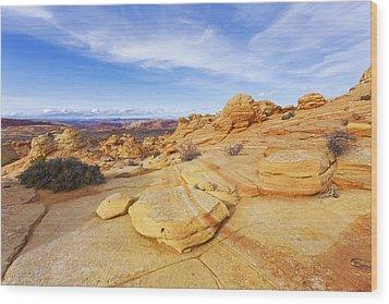Sandstone Wonders Wood Print by Chad Dutson