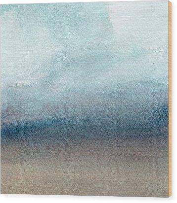 Sandy Shore- Art By Linda Woods Wood Print by Linda Woods