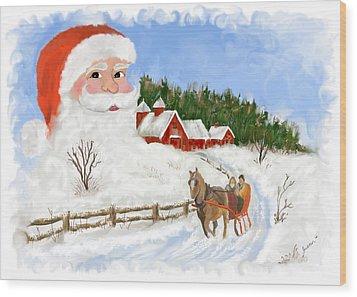 Santas Beard Wood Print by Susan Kinney