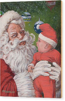 Santas Little Helper Wood Print by Richard De Wolfe