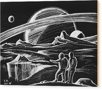 Saturn Visitors Wood Print by Daniel House