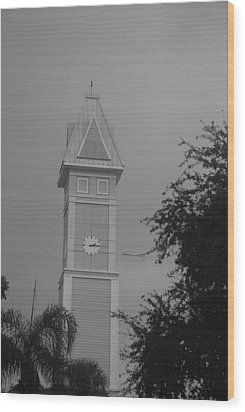 Save The Clock Tower Wood Print by Rob Hans