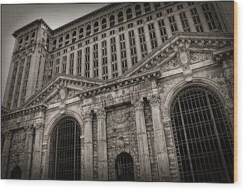 Save The Depot - Michigan Central Station Corktown - Detroit Michigan Wood Print by Gordon Dean II