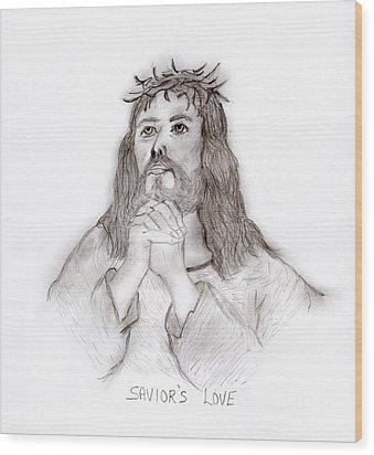 Savior's Love Wood Print by Sonya Chalmers